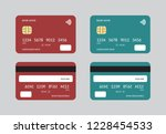 vector image of credit and...   Shutterstock .eps vector #1228454533