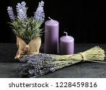 bunch of lavender tied with... | Shutterstock . vector #1228459816