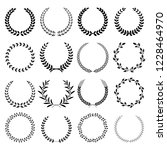 Wreath frame vector illustrations.