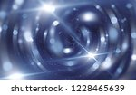 abstract blue bokeh circles on... | Shutterstock . vector #1228465639