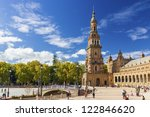 spanish square 'plaza de espana'...   Shutterstock . vector #122846620