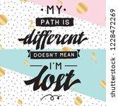 inspirational quote  motivation.... | Shutterstock .eps vector #1228472269