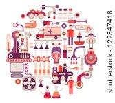 pharmaceutical laboratory  ... | Shutterstock .eps vector #122847418