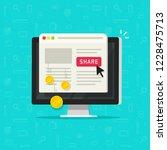 per pay click or cost per click ... | Shutterstock .eps vector #1228475713