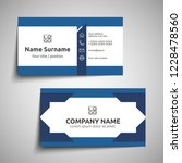 modern simple business card set ... | Shutterstock .eps vector #1228478560