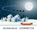 fantastic winter landscape on...   Shutterstock .eps vector #1228481710