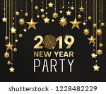 new year 2019 party. shiny... | Shutterstock .eps vector #1228482229