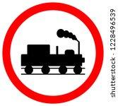 train railroad traffic road... | Shutterstock .eps vector #1228496539