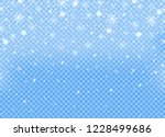 realistic falling snow isolated ... | Shutterstock .eps vector #1228499686