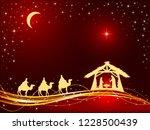 christian christmas theme.... | Shutterstock .eps vector #1228500439