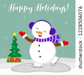 new year and christmas card.... | Shutterstock .eps vector #1228506076