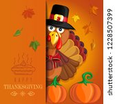 thanksgiving handmade card with ... | Shutterstock .eps vector #1228507399