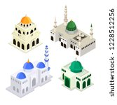 set mosque islamic worship... | Shutterstock .eps vector #1228512256