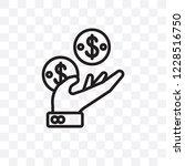 earnings vector linear icon... | Shutterstock .eps vector #1228516750
