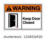 warning keep door closed symbol ... | Shutterstock .eps vector #1228526920