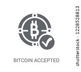 bitcoin accepted icon. trendy... | Shutterstock .eps vector #1228528813