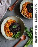 homemade vegetarian meals  ... | Shutterstock . vector #1228530940
