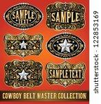 Cowboy Belt Buckle Vector...