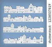 residential building in paper... | Shutterstock .eps vector #1228537819
