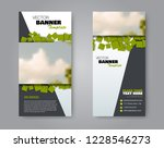 narrow flyer and leaflet design.... | Shutterstock .eps vector #1228546273