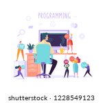 software and web page... | Shutterstock .eps vector #1228549123