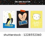 cute characters for patches and ...   Shutterstock .eps vector #1228552360