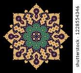 arabic floral ornament.... | Shutterstock .eps vector #1228554346