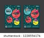 2 sides flyer template for...   Shutterstock .eps vector #1228556176