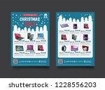 2 sides flyer template for... | Shutterstock .eps vector #1228556203