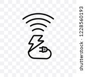 wireless charging vector linear ... | Shutterstock .eps vector #1228560193