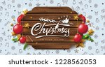 vector merry christmas and... | Shutterstock .eps vector #1228562053