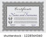 grey certificate of achievement.... | Shutterstock .eps vector #1228564360