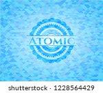 atomic light blue emblem....   Shutterstock .eps vector #1228564429