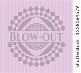 blow out realistic pink emblem | Shutterstock .eps vector #1228564579