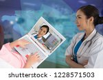photo of female doctor and her... | Shutterstock . vector #1228571503