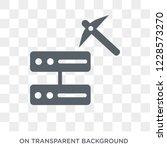 data mining icon. trendy flat... | Shutterstock .eps vector #1228573270