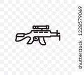 rifle vector linear icon... | Shutterstock .eps vector #1228579069