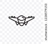 fighter plane vector linear... | Shutterstock .eps vector #1228579153