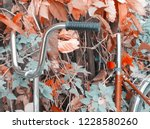 a bicycle partly disassembled... | Shutterstock . vector #1228580260