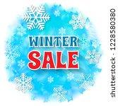 winter sale banner. snowflakes... | Shutterstock .eps vector #1228580380