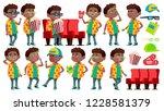 boy schoolboy kid poses set... | Shutterstock .eps vector #1228581379