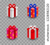 boxes gift with bow. vector...   Shutterstock .eps vector #1228582120