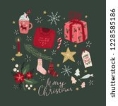 festive christmas greeting card ... | Shutterstock . vector #1228585186