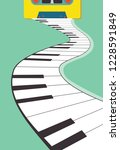 tape cassette and piano | Shutterstock .eps vector #1228591849