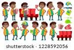 boy schoolboy kid poses set.... | Shutterstock . vector #1228592056