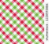 Stock vector seamless christmas wrapping paper pattern festive christmas gingham pattern background 1228593886