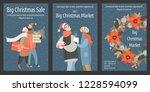 set of vector christmas market... | Shutterstock .eps vector #1228594099