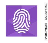 fingerprint   app icon   Shutterstock .eps vector #1228596253