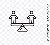 balancing vector linear icon... | Shutterstock .eps vector #1228597786