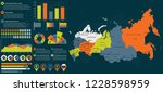 detailed russia map with... | Shutterstock .eps vector #1228598959